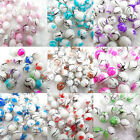 20Pcs/50pcs Charms Round Print National Lampwork Stained Glass Art Round Beads