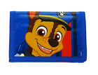 Paw Patrol | Chase Dog | Blue Tri-Fold Wallet | Purse with Coin Zip Compartment