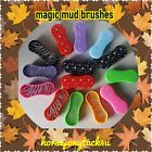 GROOMING MAGIC BRUSHES STAR OR DIAMANTE FOR MUD DIRT LOTS OF COLOURS