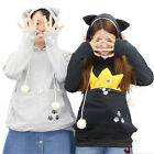 Unisex Mewgaroo Nyangaroo Kangaroo Cat Dog Pet Casual Coat Hoodie Top Outwear