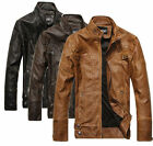 New Fashion Hot Men's Motorcycle Leather Jackets Washed Leather Coat