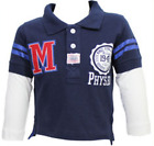 Prep Range Double Layer Polo T shirt by Minoti Brand - Red Size 6-24 Months