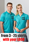 From 3 - 25 shirts Men Coast Polo with Your Embroidered LOGO (Biz P608MS)