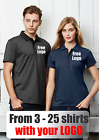 From 3 - 25 shirts Ladies Shadow Polo with Your Embroidered LOGO (Biz P501LS)
