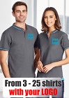 From 3 - 25 shirts Men Jet Polo with Your Embroidered LOGO (Biz P226MS)