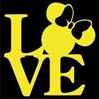 Minnie Mouse Love Vinyl Decal / Sticker - Choose Color & Size - Disney, Mickey