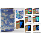 For Samsung Galaxy S9+ S9 S8 S8+ Blue Puzzle Print Flip Wallet Phone Case Cover
