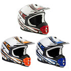 Spada Motorcycle Bike Moto-X Unisex Full Face Violator Hawk Helmet Size XS-XL