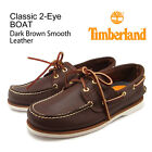 Timberland 2 Eye Classic Boat Shoes Model 74035 Mens Brown Leather Shoes NEW