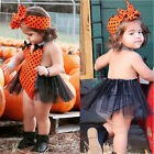 Infant Newborn Baby Girls Tulle Romper Clothes Jumpsuit Bodysuit Clothes Outfit