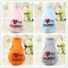 Pet Dog Puppy Cat Clothes Vest Doggie I Love Mommy Dog T-Shirt Costumes DB S