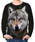 Timber Wolf Boys Kid Youth Long Sleeve T-Shirt Tee wc2 ael40067