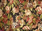 CLEARANCE 100% Cotton Fabric – Waverly – Black Floral – Upholstery, Totes – #943