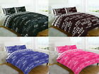 Keep Clam 4 Pcs Printed Floral Duvet Cover + Valance Sheet Complete Bedding Set