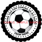 Personalised Football stickers, For Sweet Cones etc - 3 Sizes - Ref MX02-04