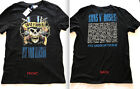 H&M Licensed GUNS N ROSES USE YOUR ILLUSION Double-Sided T-Shirts NEW S,M,L,XL