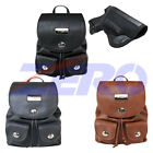 VISM Leather Concealed Carry Gun Purse CCW Backpack Holster Concealment Bag Lock