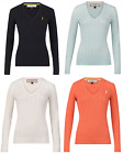 Jack murphy Ladies womens Katie knitted v neck sweater jumper