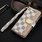 Luxury Fashion Leather Wallet Flip Case Cover For Apple iPhone 5 SE 6 6s 7 plus