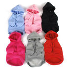 Small Pet Dog Hoodie Coat Winter Warm Shirt Puppy Soft Apparel Doggy Outfits