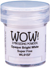 WOW! OPAQUE WHITE EMBOSSING POWDER - COLOUR/GRADE CHOICES - free UK p&p on extra