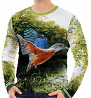 Kingfisher Mens Long Sleeve T-Shirt Tee wa2 aao40510