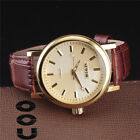 Fashion Steel Case Manual Sports Mens Gold Mechanical Wrist Watch Leather