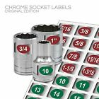 Chrome Socket Labels (green) Multi Lot Deals for mechanics & home craftsman
