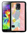 PERSONALIZED RUBBER CASE FOR SAMSUNG NOTE 5 4 3 LIGHT COLOR FEATHERS
