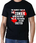 THE HARDEST PART OF THE ZOMBIE APOCALYPSE THE WALKING DEAD T SHIRT