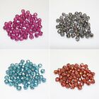 50 Antique Czech Glass Beads, English Cut in Pink, Grey, Teal or Red size 7mm