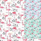 100% Cotton Poplin Flamingo Fabric - 480 Flamingos