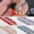 New 5/20pcs 12X9mm Drum Shape Faceted Loose Spacer Glass Beads Jewelry Making