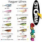 Storm Gomuku Popper 60mm Surface Harbody Lure 60F