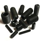 8mm 10mm 12mm 16mm High Tensile Black Socket Cup Point Grub Screws - Allen Key