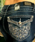 Woman's EARL JEANS Bling Rhinestones Bootcut Tribal  NEW Fast Ship