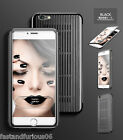 Aluminum Metal Grille with PC Panel Flip Leather Case for 5.5'' iPhone 6Plus