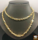 """Real 10k Yellow Gold Milano Rope Chain Necklace 6mm 22""""-30"""",Cuban,Franco,palm N"""