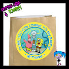 Spongebob Squarepants Birthday Party Favor Goody Bag STICKERS - Personalized