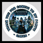 Assassins Creed Syndicate Birthday Party Bag STICKERS Personalized Labels