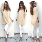 2017NEW Women Casual Long Sleeve Knitted V Neck Pullover Loose Sweater Jumper