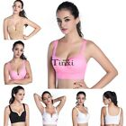 Women Seamless Racerback Sports Fitness Yoga Padded Bra Workout Stretch Tank Top