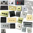 Crabtree Wall Plug Socket Light Switch Cooker Switches Matte Chrome Mixed Style