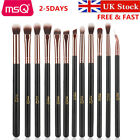 UK DELIVERY MSQ Professional 12PC Rose Gold Makeup Brush Set With PU Leather Bag