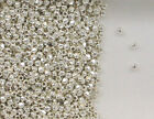 925 Sterling Silver 2mm Faceted Round Spacer Beads,  Choice of Lot Size & Price