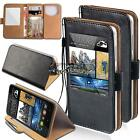 For Various HTC SmartPhones New window view Flip Leather Wallet Stand Cover Case