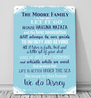 Personalised In this House Disney A4 Metal sign plaque wall art picture