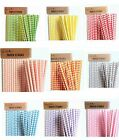 Paper Drinking Straws Wedding Party Supplies Tableware DIY - Square Design