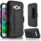Samsung Galaxy On5 Case, Dual Layers Belt Clip +Tempered Glass Protector