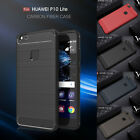 Shockproof Carbon Fiber Hybrid Slim Brushed TPU Soft Case Cover For Huawei Phone